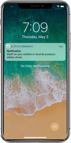 Grocery app push notification