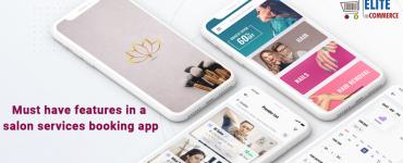 Salon services booking app features