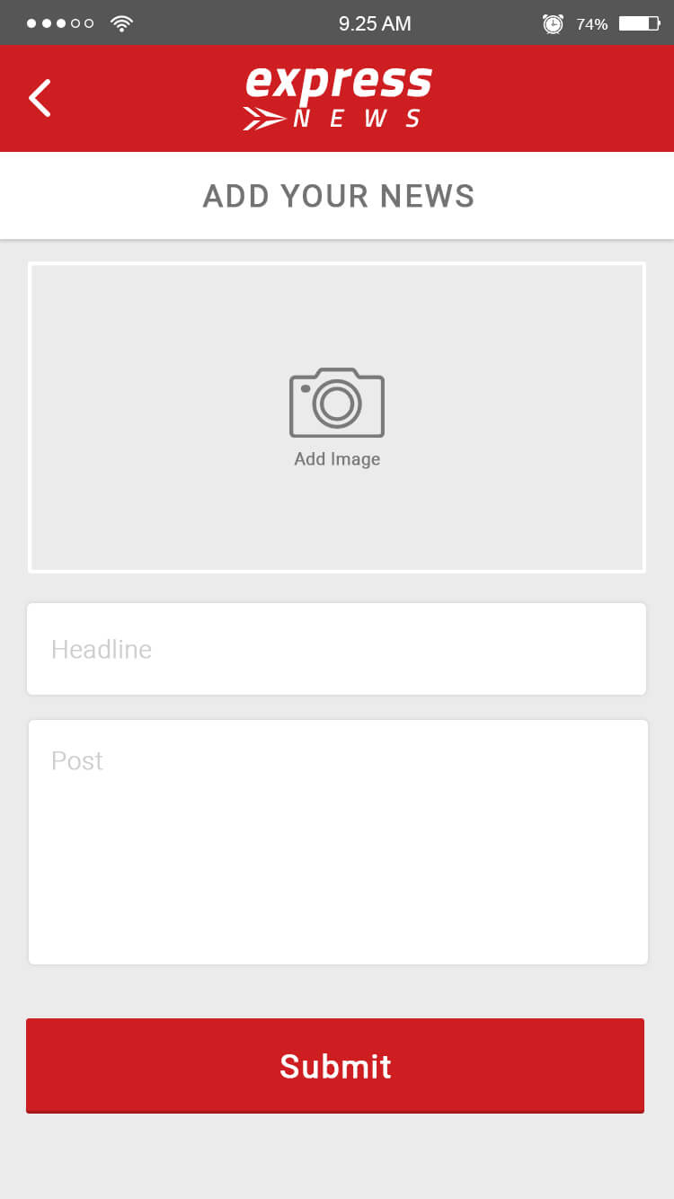 post news in app