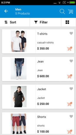Magento app builder product page