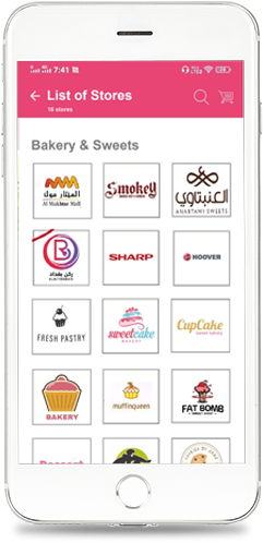 Store listing based on customer location