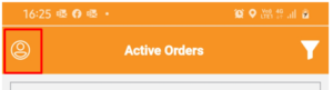 Delivery Partner Needs to Click on the Avatar