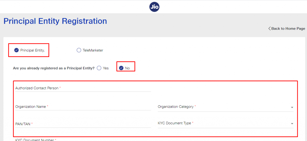 DLT by signing up with either of the platform Jio