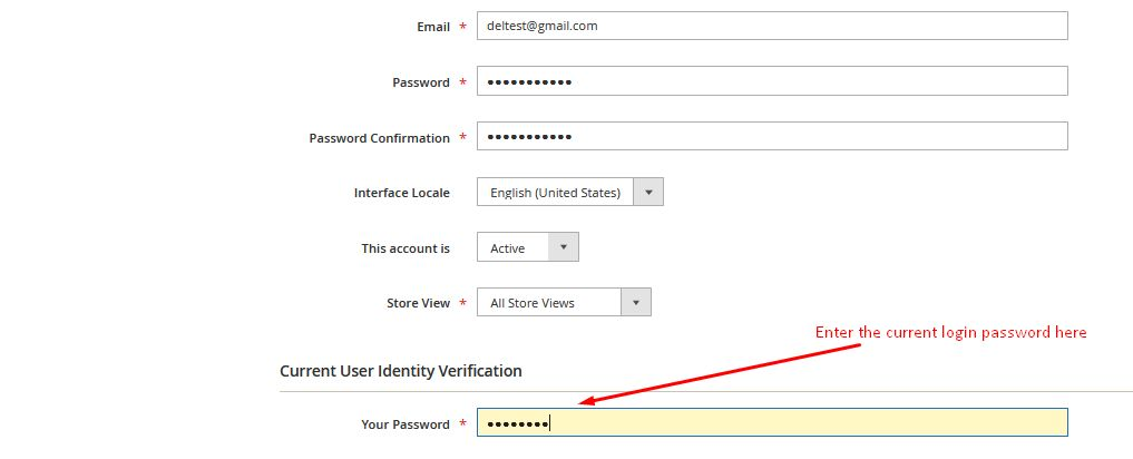 current login password