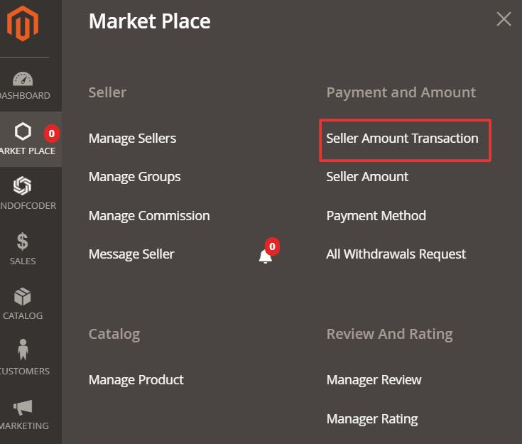 seller amount transactions