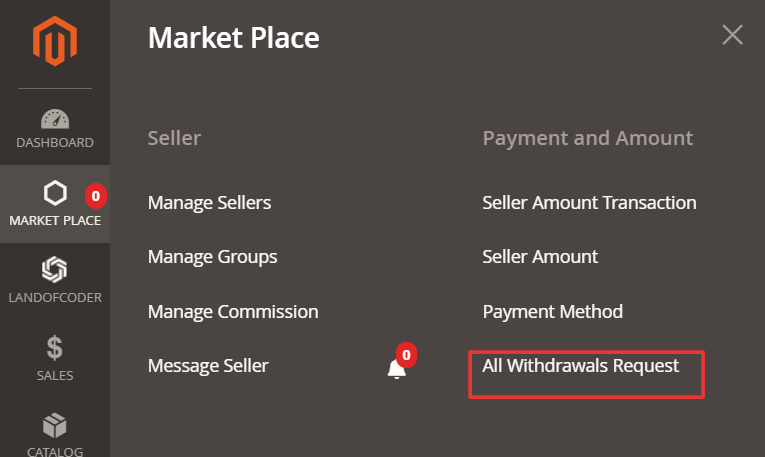 withdraw request